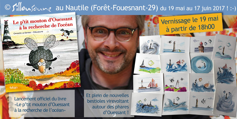 Exposition au Nautile, La Forêt-Fouesnant, 29, du 19 mai au 17 juin