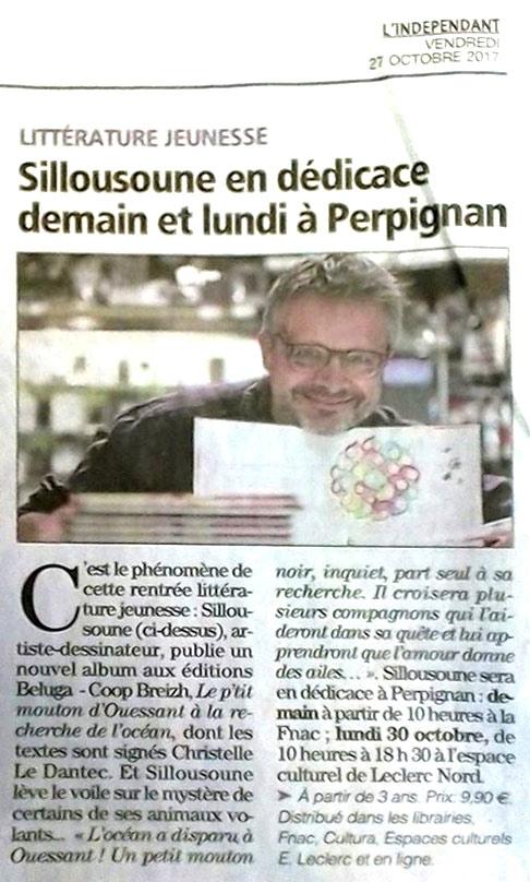 Sillousoune en dédicace demain et lundi à Perpignan